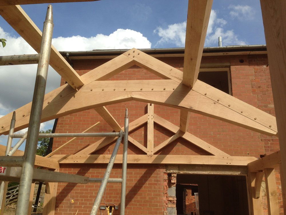 Oak conservatory trusses