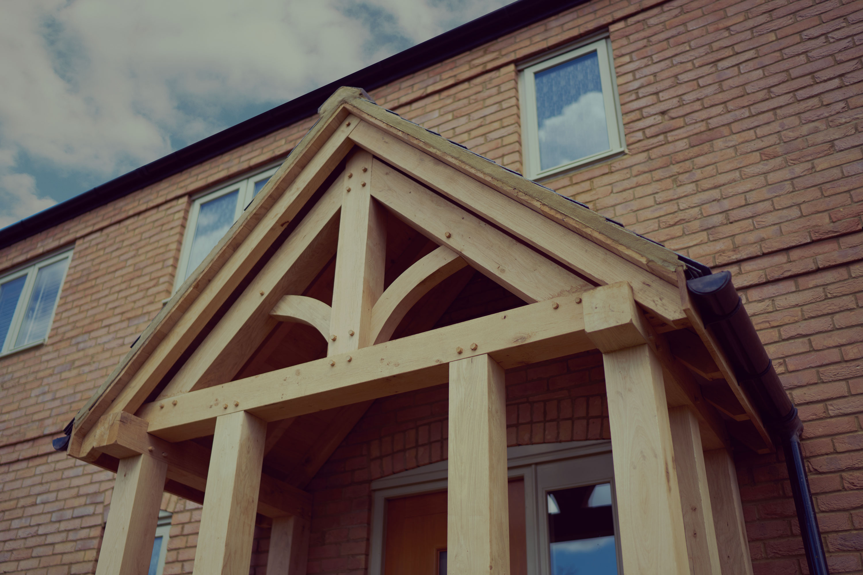 Beautiful Oak Porches