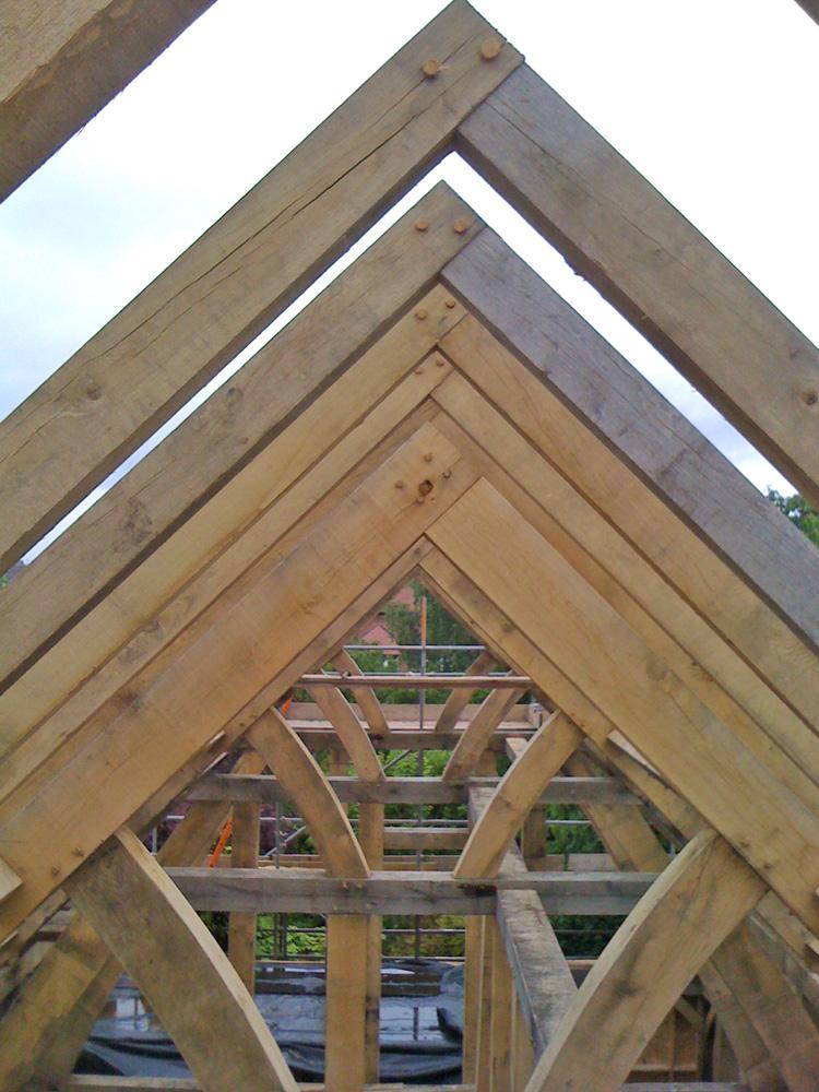 Oak House Frame Bingham Bespoak Timber Frames