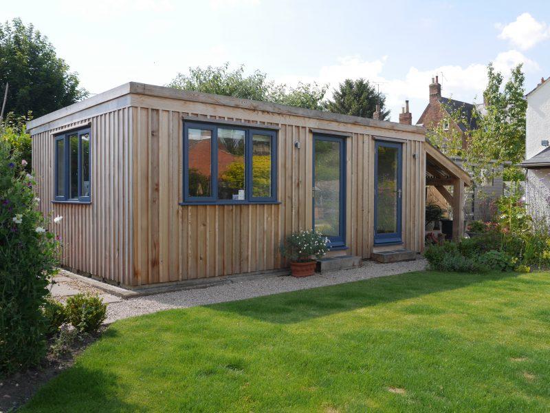 Oak structure portfolio bespoak timber frames for Oak garden office