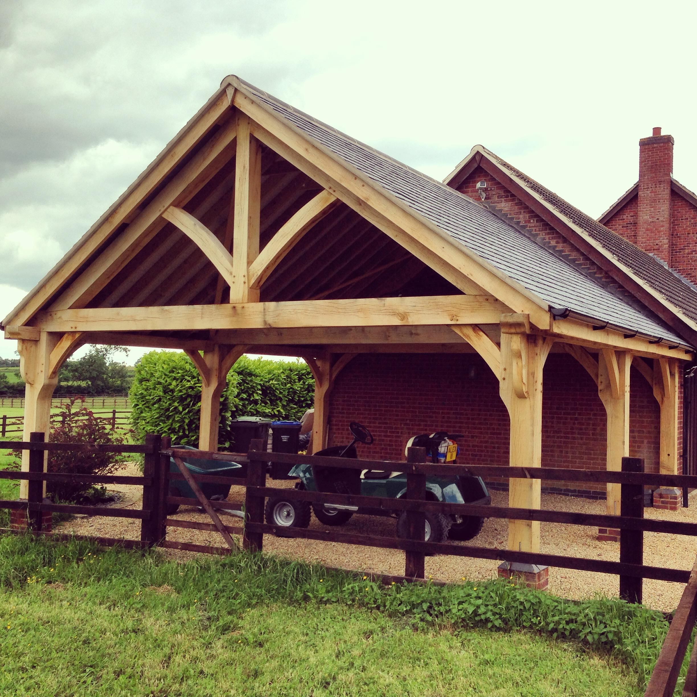 Oak Carport Bespoak Timber Frames