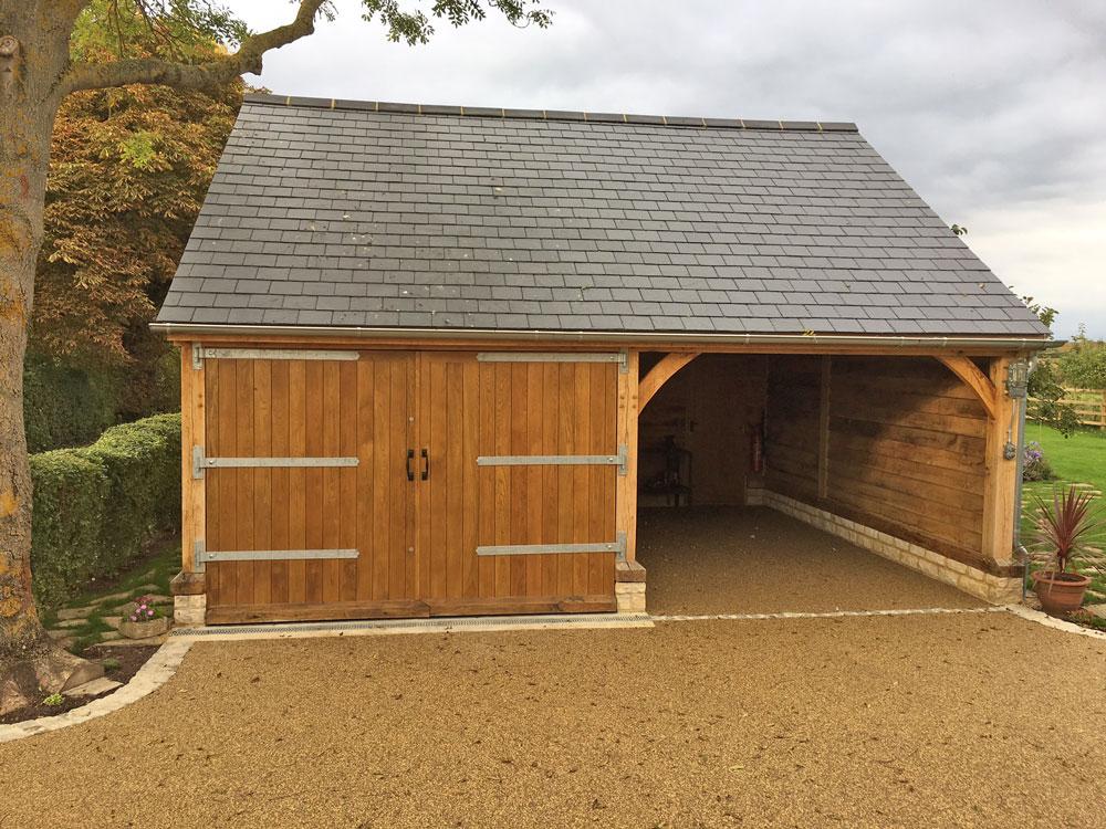 Oak Garage and Car Port