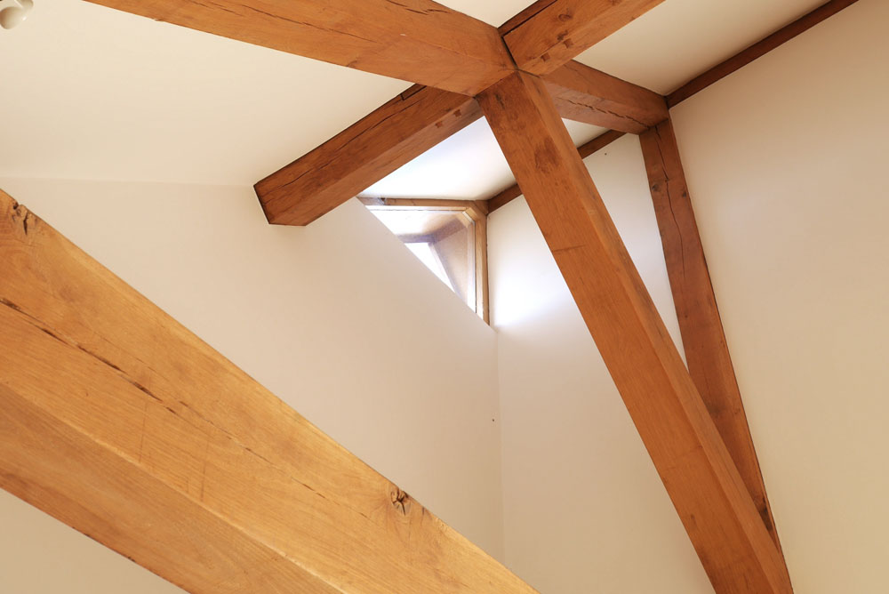 Extension employing traditional Oak Frame